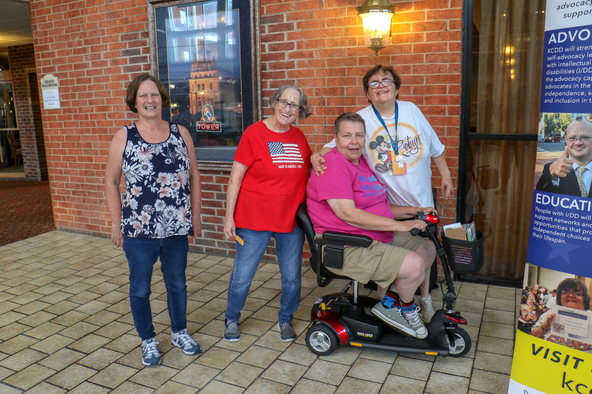 Photo: group of self-advocates at the 2019 SACK conference